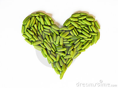 Green rice heart