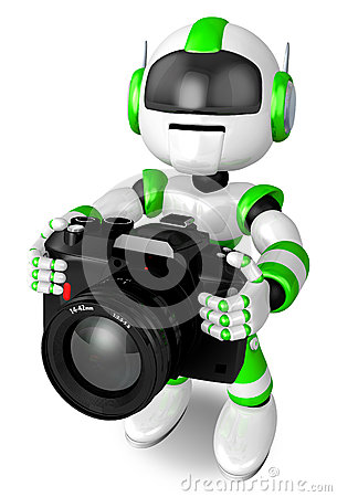 Green Robot a photographic shoot
