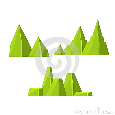 Free Green Rock Elements Set Royalty Free Stock Image - 69852226