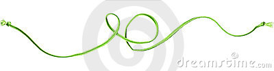 Green rope swirl