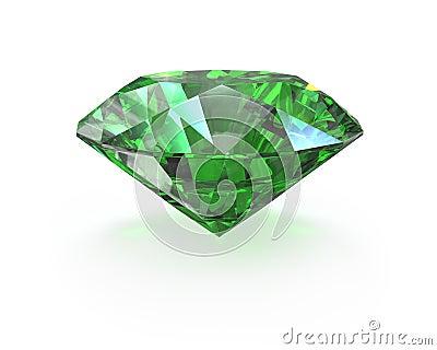 Green round cut emerald