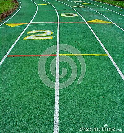 Green  Running Track