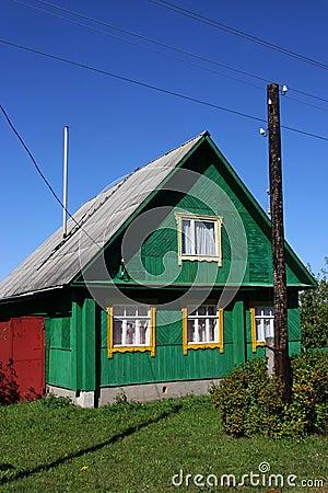 Green Russian Village House