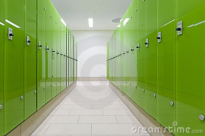 Green safe deposit boxes