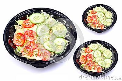 Green salad bowls