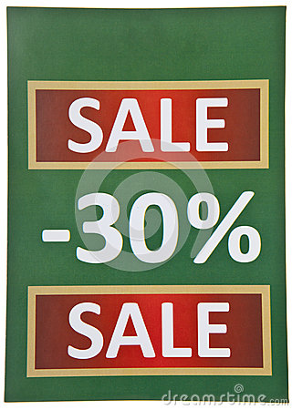Green Sale Sign