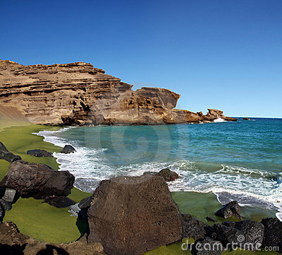 Green Sand Beach Stock Photography - Image: 7496142