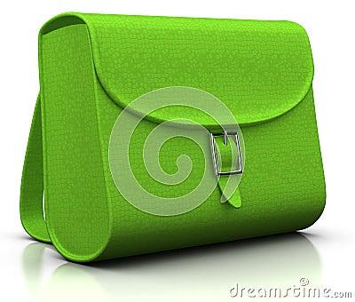 Green satchel