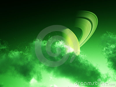 Green Saturn Clouds 3