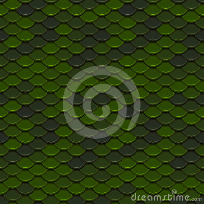 Green Scales Seamless Pattern