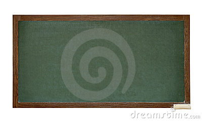 Green school blackboard cutout