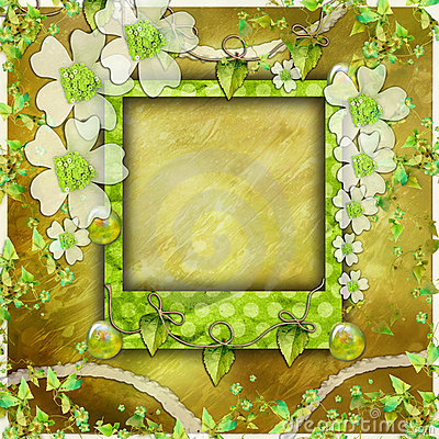 Green scrapbook photo album