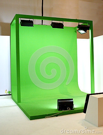 Free Green Screen Set For Movie Shooting Stock Photo - 31763630