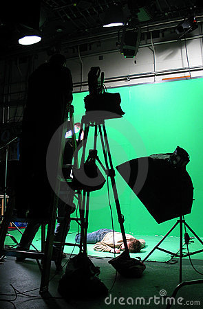 Free Green Screen Setup Royalty Free Stock Images - 22689