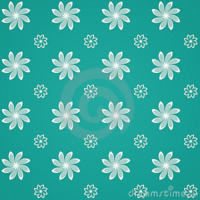 Green Sealmess Flower Pattern