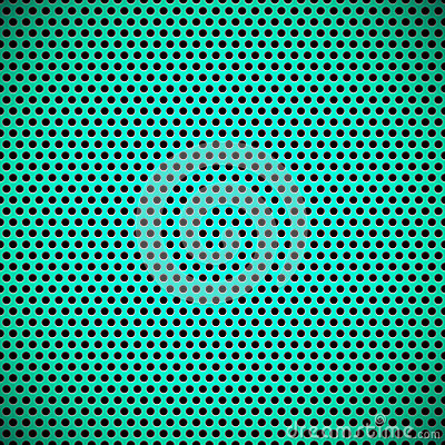 Free Green Seamless Circle Perforated Grill Texture Stock Images - 30336644