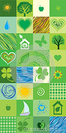 Green seamless pattern.
