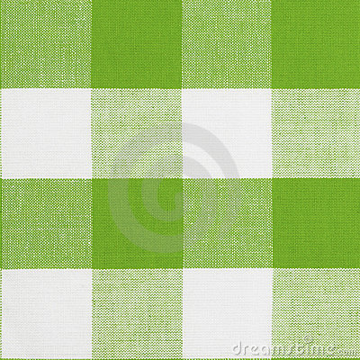 Green seamless pattern of gingham tablecloth
