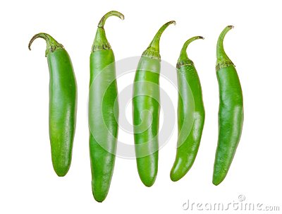 Green serrano peppers