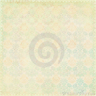 Green shabby chic vintage damask texture