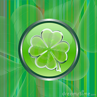 Green shamrock leaf  sign