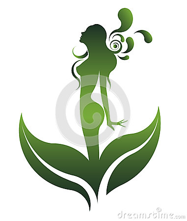 Free Green Shape Of Beautiful Woman Icon Cosmetic And Spa, Logo Women On White Background,  Royalty Free Stock Photos - 60097908
