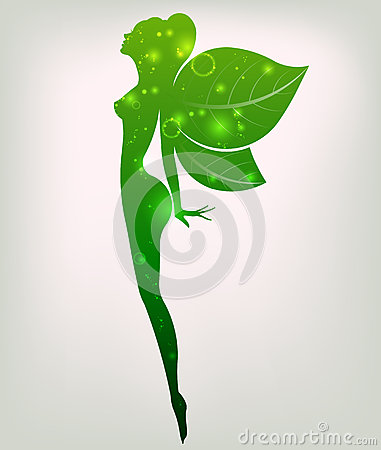 Free Green Shape Of Beautiful Woman Icon Cosmetic And Spa, Logo Women On White Background,  Stock Photos - 74068633