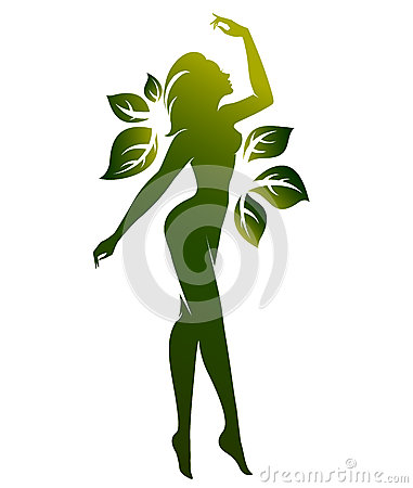 Free Green Shape Of Beautiful Woman Icon Cosmetic And Spa, Logo Women On White Background,  Royalty Free Stock Photo - 91528995