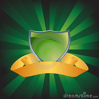 Green Shield with Background