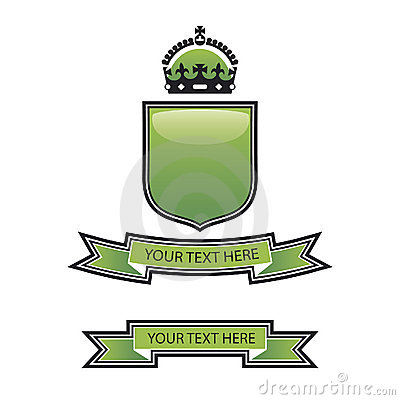 Green shield crest