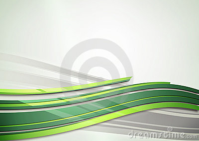 Green shine abstract background