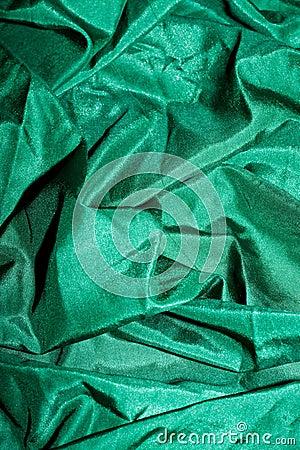 Green shiny silk