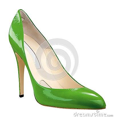 Free Green Shoe Royalty Free Stock Photo - 8947135