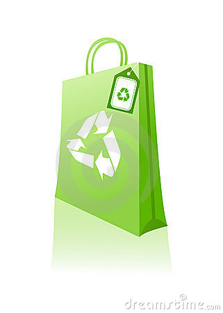 Free Green Shopping Bag Royalty Free Stock Photography - 8138057