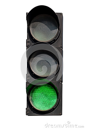 Free Green Signal Of The Traffic Light Stock Photos - 60737883