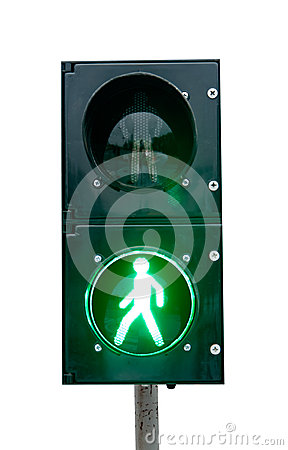 Green signal of a traffic light