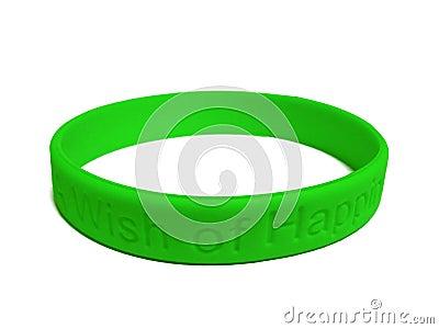 Green Silicone Wristband 60