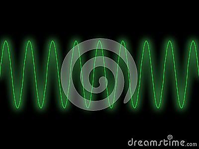 Green sine wave