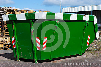 Green skip for waste