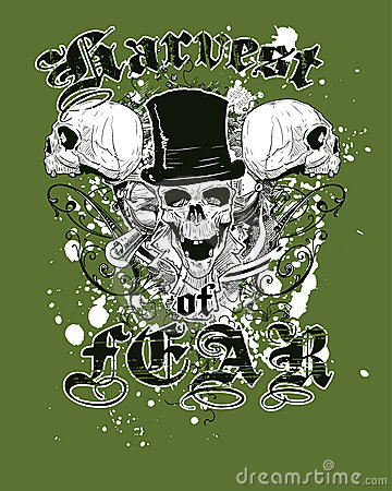 Green Skulls T-Shirt Design