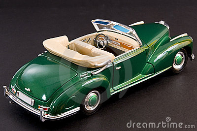 Green sleek classic luxury car