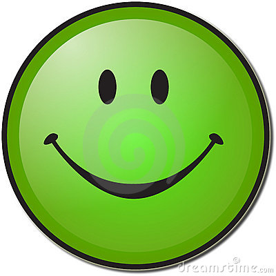 Happy Green Smiley Face