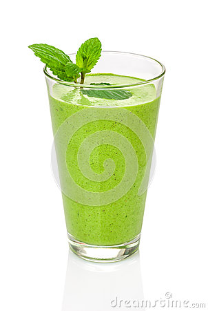 Free Green Smoothie With Mint Stock Photos - 40541603