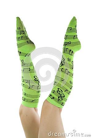 Green socks straight up