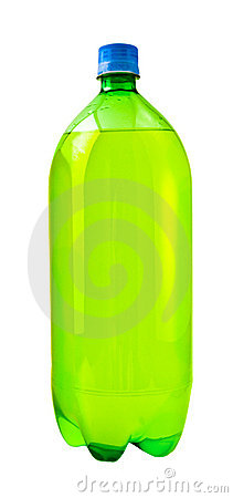 Free Green Soda Bottle Royalty Free Stock Photography - 2736947