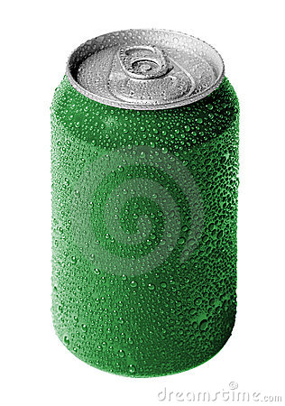 Free Green Soda Can Royalty Free Stock Photo - 11106085