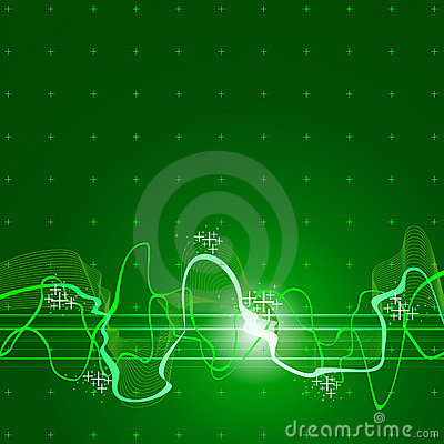Green sound wave