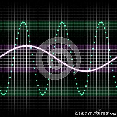 Green sound wave