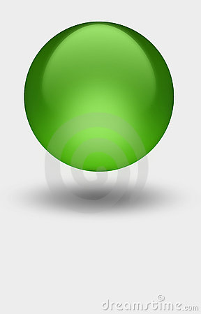 Free Green Sphere Royalty Free Stock Photo - 4863625