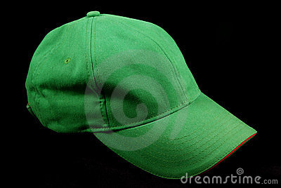 Green sports cap